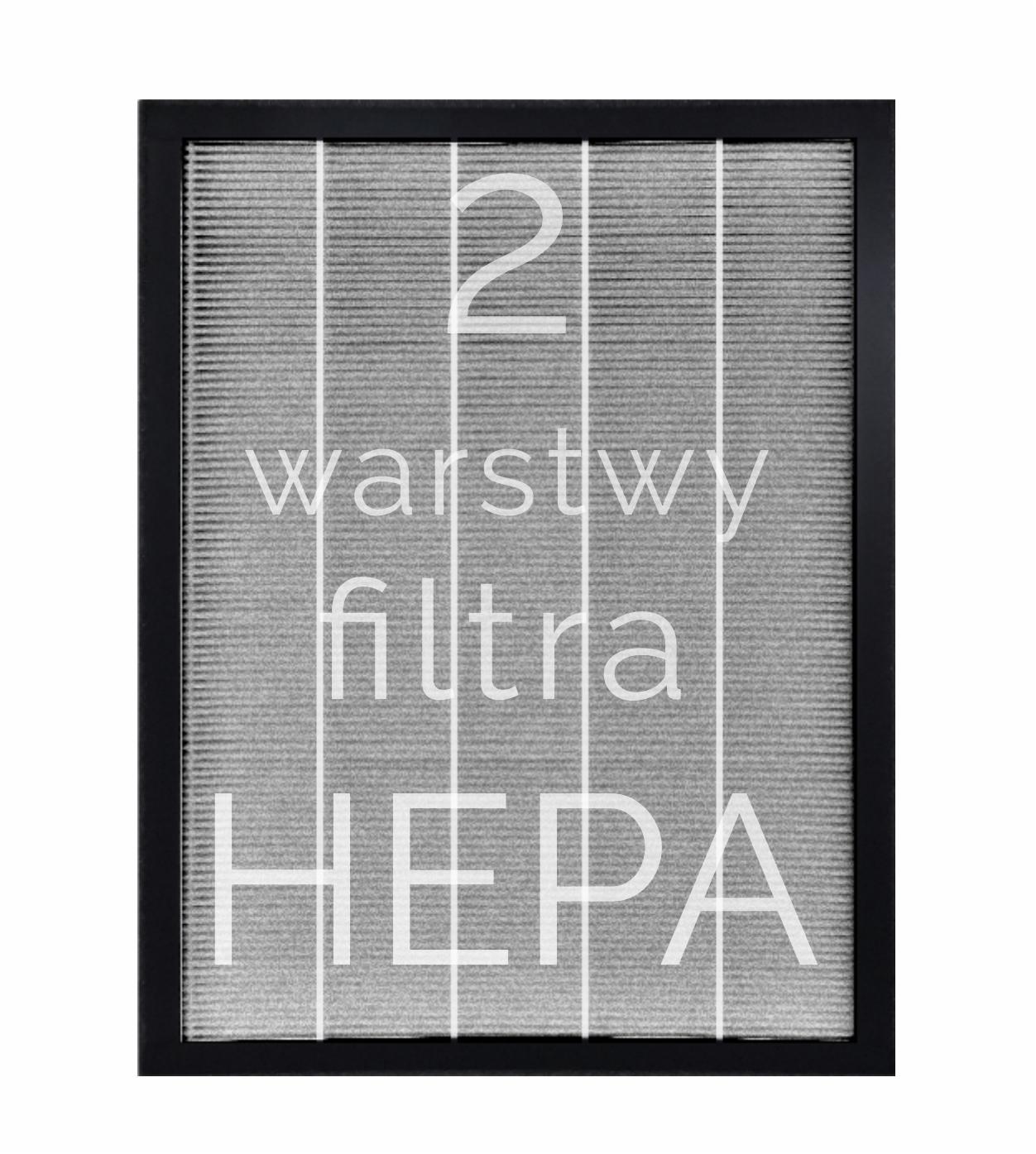 Dwie warstwy filtra HEPA