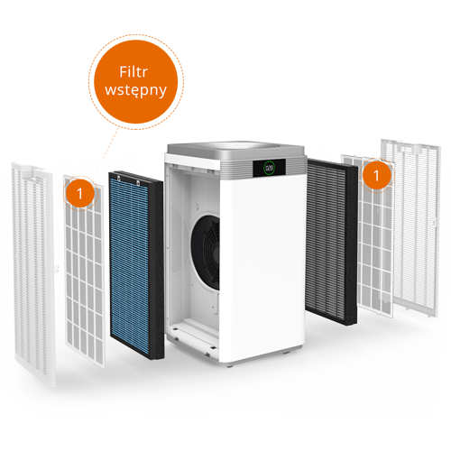 Filtr wstępny - oczyszczacz powietrza Warmtec AP1000W