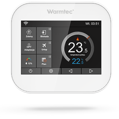 Programowalny regulator temperatury Warmtec ITS z  WiFi